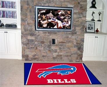 BUFFALO BILLS NFL FOOTBALL TEAM AREA RUG GAME MAT 5X8
