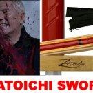 Zatoichi Blind Swordsman Samurai Movie Katana Sword Red