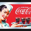 COCA COLA COKE SODA POP GLASS VINTAGE DINER MIRROR SIGN
