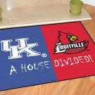 KENTUCKY WILDCATS VS LOUISVILLE CARDINALS RUG MAT NEW
