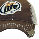 Miller Lite Beer Bottle Opener Brown Trucker Baseball Hat Cap