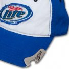 Miller Lite Beer Bottle Cap Opener Frayed Swirl Patch Baseball Hat
