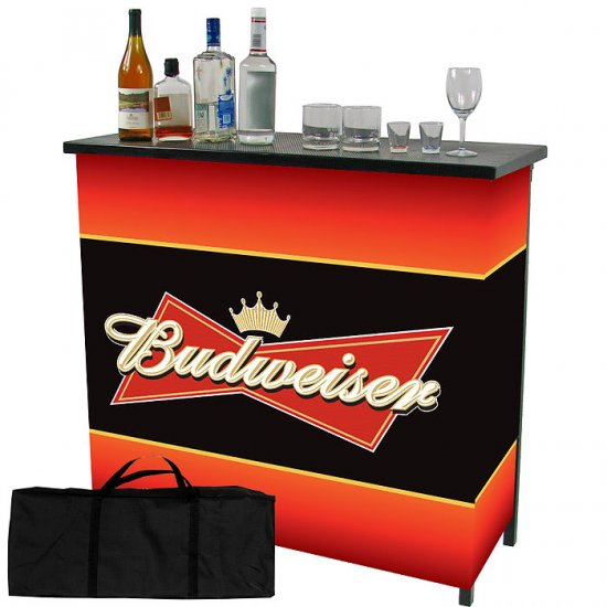 Budweiser Beer Portable Patio Party Bartender Bar Table