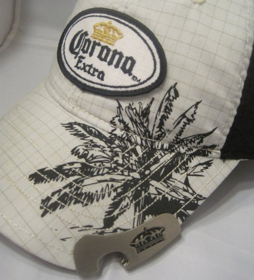 Corona Cerveza Beer Bottle Opener Baseball Cap Hat Palm Tree