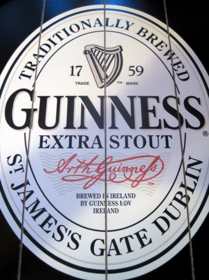 Guinness Irish Extra Stout Beer Wood Plank Bar Pub Sign
