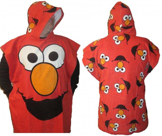 Sesame Street Elmo Hooded Bath Beach Cotton Towel Robe