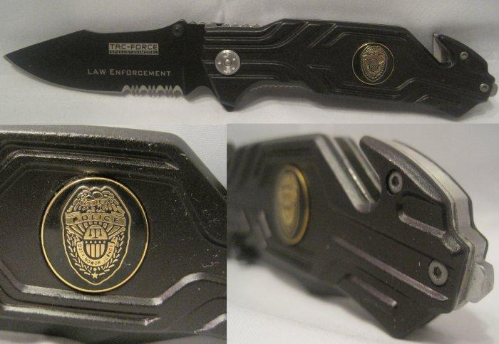 Law Enforcement Police Badge Cop Seat Belt Glass Break Rescue Knife