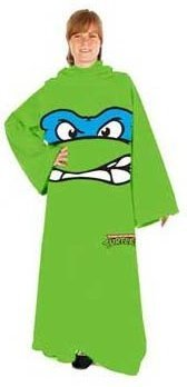 Teenage Mutant Ninja Turtles TMNT Face Adult Snuggler Fleece Throw Blanket Sleeves Leonardo