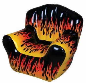 Inflatable Lazy Boy Flame Fire Gaming Lounge Chair Seat