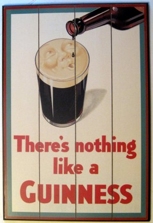 Nothing Like A Guinness Irish Beer Stout Wood Pub Bar Sign