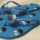 Sesame Street Cookie Monster Women Flip Flop Thong Sandal Shoe Size 7/8