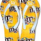 M&M Chocolate Candy Yellow Girl Flip Flop Sandal Shoes 7/8