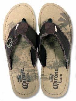 corona extra beer bottle opener flip flop sandal shoe 10 11. Black Bedroom Furniture Sets. Home Design Ideas