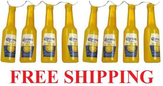 Corona Extra Beer Bottle Party Bar Pub Christmas Tree String Lights