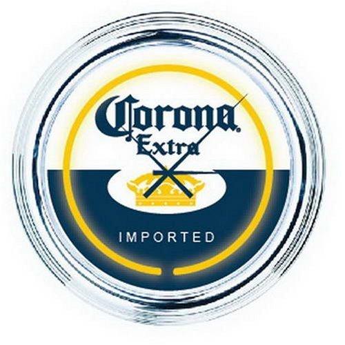 Corona Extra Beer Bottle Cerveza Bar Sign Neon Clock