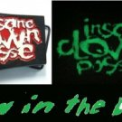 Insane Clown Posse ICP Glow in Dark Carnival Hatchetman Belt Buckle