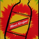 Red Stripe Jamaican Beer Bottle Tin Tie Dye Bar Wall Sign
