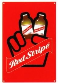 Red Stripe Jamaican Beer Bottle Peace Tin Pub Bar Sign
