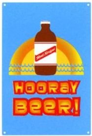 Red Stripe Jamaican Beer Bottle Hooray Beer Tin Metal Pub Bar Art Wall Sign New