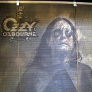 Ozzy Osbourne Poster Bamboo Window Roll Shade Blind Black Rain Album