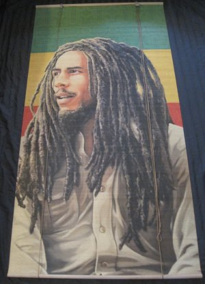 Bob Marley Rasta Reggae Bamboo Window Roll Shade Blind