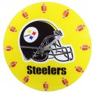 Pittsburgh Steelers Football Game Helmet Glass Clock