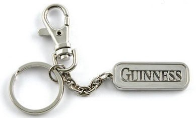 Guinnness Extra Stout Beer Keychain Key Ring Tag FOB