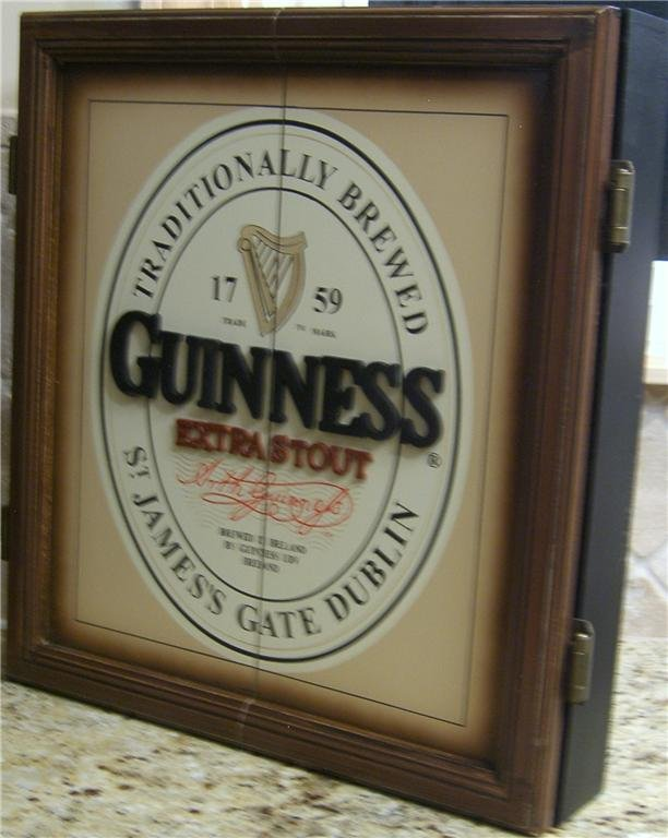 Guinness Extra Stout Beer Irish Pub Bar Sign 3D Dart Board