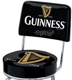 Arthur Guinness Extra Stout Irish Ale Beer Harp Swivel Bar Stool Pub Chair Seat