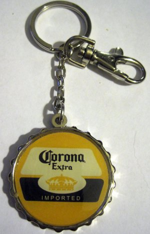 Corona Extra Beer Cerveza Bottle Cap Car Auto House Metal Key Chain Ring FOB Tag