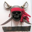 Jolly Roger Carribean Pirate Skull Crossbones Cutlass Swords Bar Pub Wall Sign