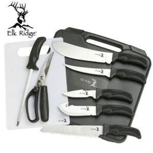 Deer Game Hunting Fishing Camping Kitchen Dressing Gutting Knife Bone Saw Tool Kit