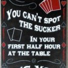 Casino Poker Card Player Game Bar Pub Room Deck Hand Sucker Wall Sign 10-HHD-S003