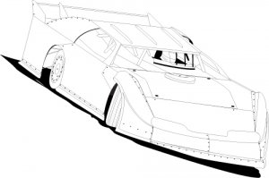 Dirt Late Model Drawings Sketch Coloring Page