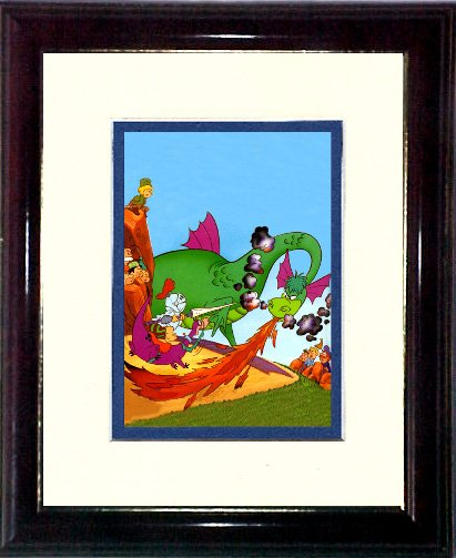 Fred Flintstone and the Dragon #A394