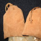 2 Drawstring charging pouches black sand bags blessed spell cast by coven magick