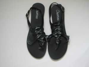 Womens Black Gladiator Sandals Size 11