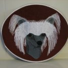 Chinese Crested  Embroidered Iron On Decal