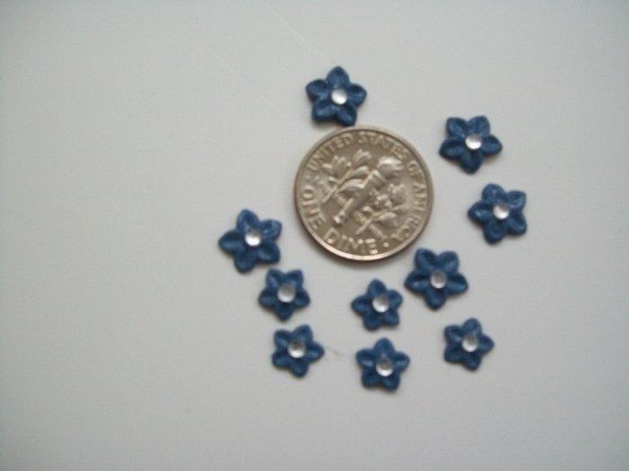 Nail Art 3D Stonewash Denim Fimo Rhinestone Star Flower