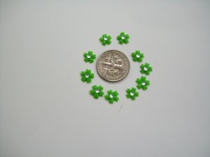 Nail Art 3D Light Green Fimo Rhinestone Flower