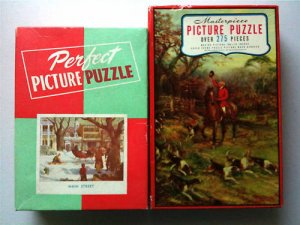 Lot 2 Vintage Puzzles Masterpiece & Perfect 275 Pieces