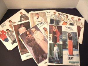 Lot Six VTG Vogue Patterns Basic & Designers DKNY ADRI