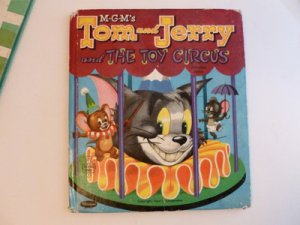 Lot Five Vintage Whitman Tell-A-Tale Books Tom & Jerry Donald Duck Cinderella