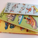 Lot Three Vintage A Golden Go-Go Books Cars, Boats and Planes by Richard Scarry