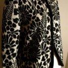 Vintage Catalina Jacquard 40 Black & White Big Flowers Cardigan 40