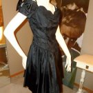 Vintage 80s Steppin' Out NWT Black Party Dress