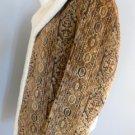 Vintage Lakeland Men's Hippie Tapestry Jacket Sherpa Lining 40