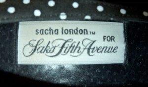 Vintage 80's B&W Polka Dot Designer Sacha London for Saks Fifth Avenue Pumps