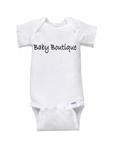 """Baby Boutique"" Logo Short Sleeve Onesie"