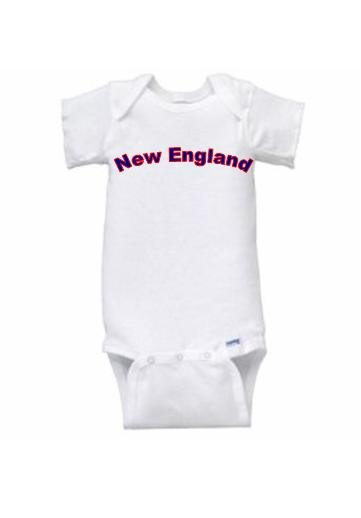 New England Short Sleeve Onesie